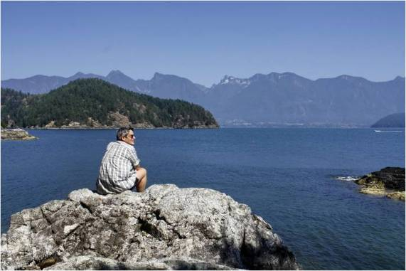 Terry on Gambier Island, 2010