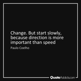 direction more than speed